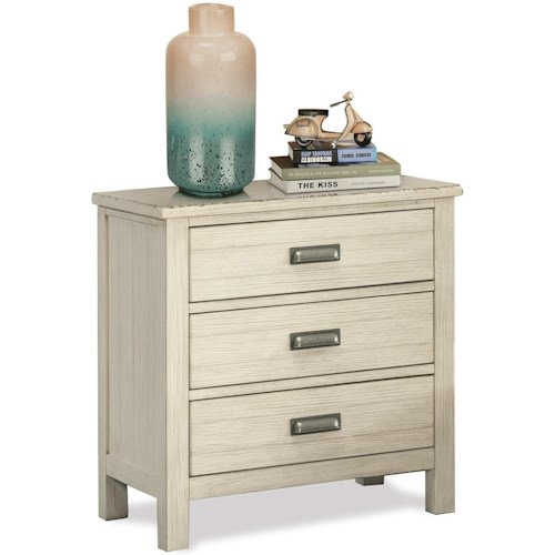 Riverside Furniture Aberdeen 3-Drawer Nightstand with Dual USB Charging Port