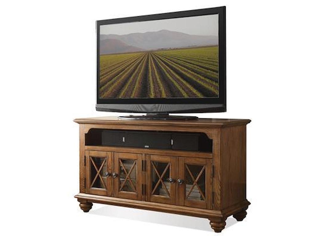 Riverside Furniture Allegheny 65244 50 Tv Console W Glass Doors