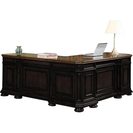 L Shape Desk with Return