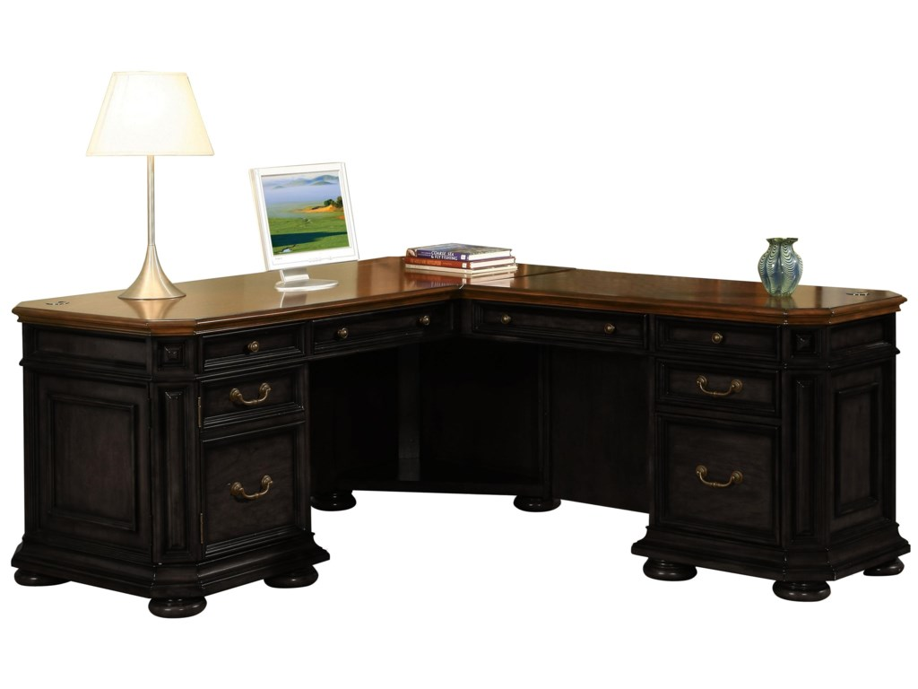 Riverside Furniture Allegro RSL Shape Desk with Return