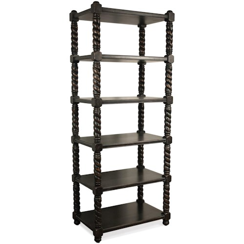 Riverside Furniture Alvaro Open 5 Shelf Bookcase