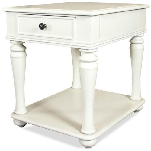 Riverside Furniture Annalise Cottage End Table with One Drawer