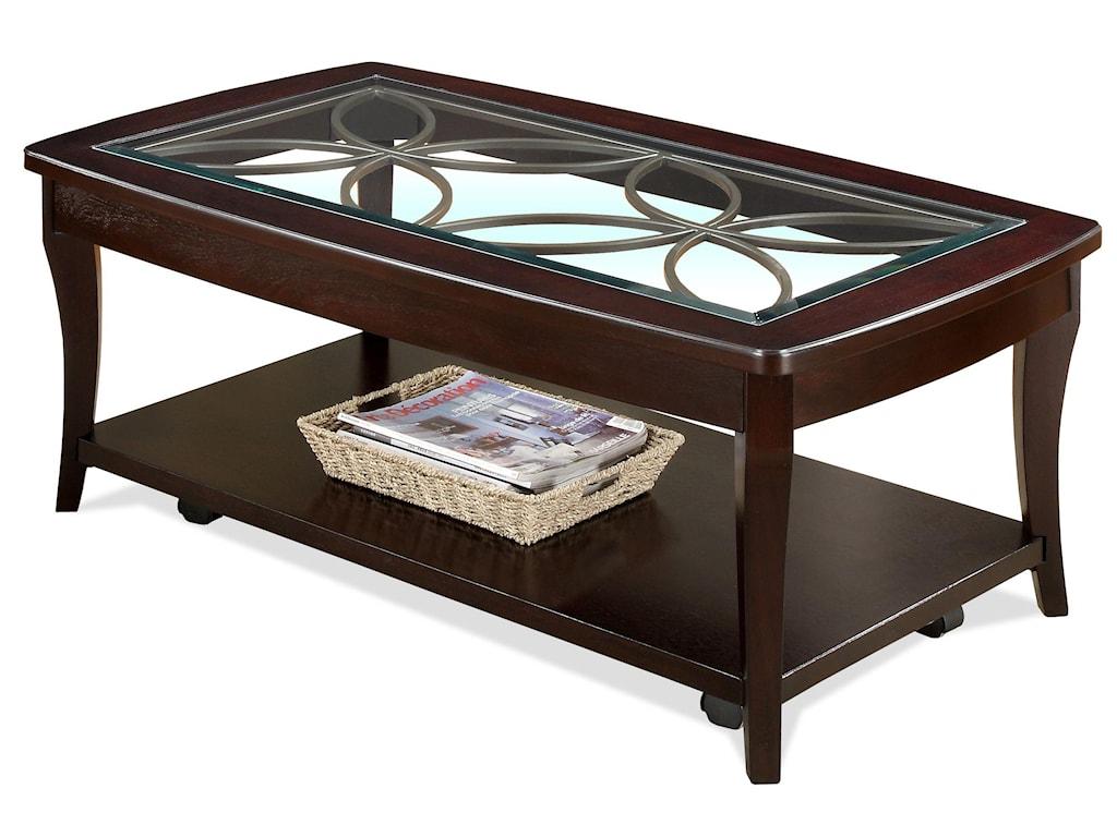 Riverside Furniture AnnandaleRect Cocktail Table-Castr