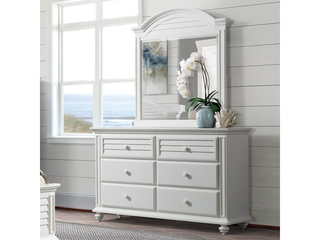 Riverside Furniture Avon6-Drawer Dresser and Mirror Combo