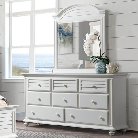 8-Drawer Dresser and Mirror Combo