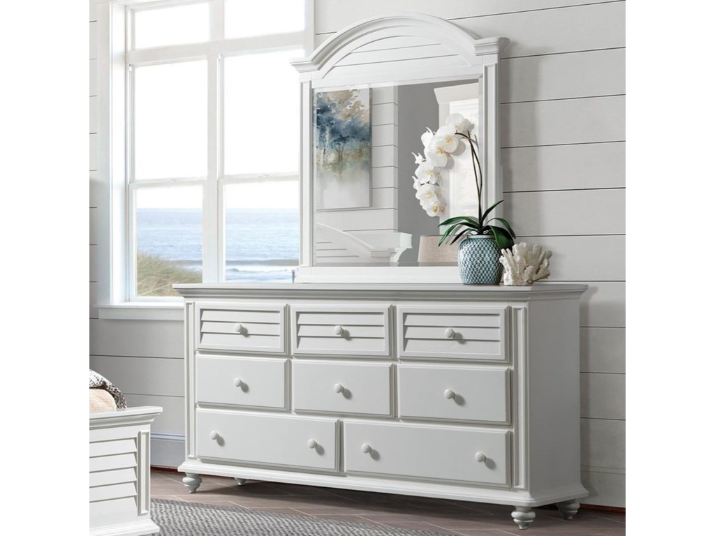 Riverside Furniture Avon8-Drawer Dresser and Mirror Combo