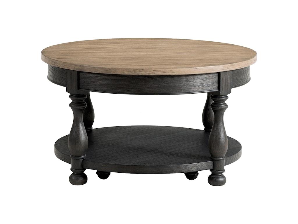 Riverside Furniture Barrington Two ToneRound Cocktail Table