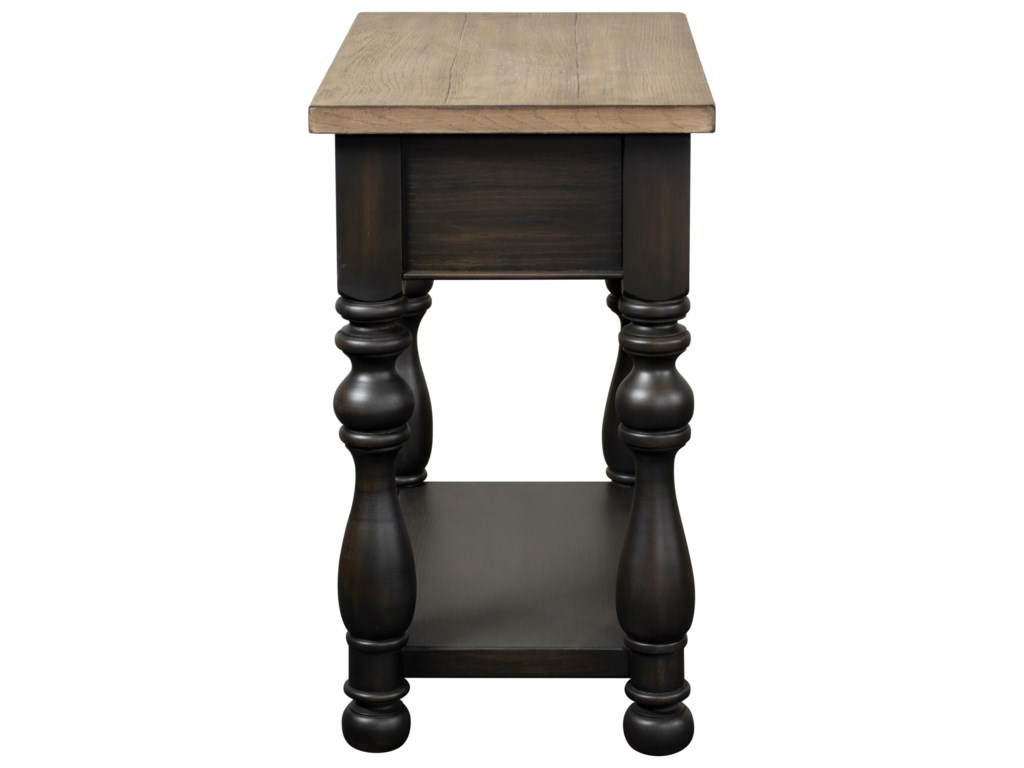 Riverside Furniture Barrington Two ToneChairside Table