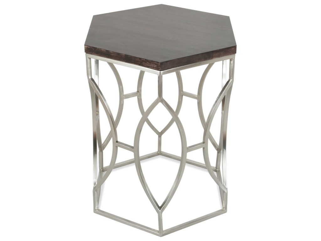 Riverside furniture barronhexagon side table