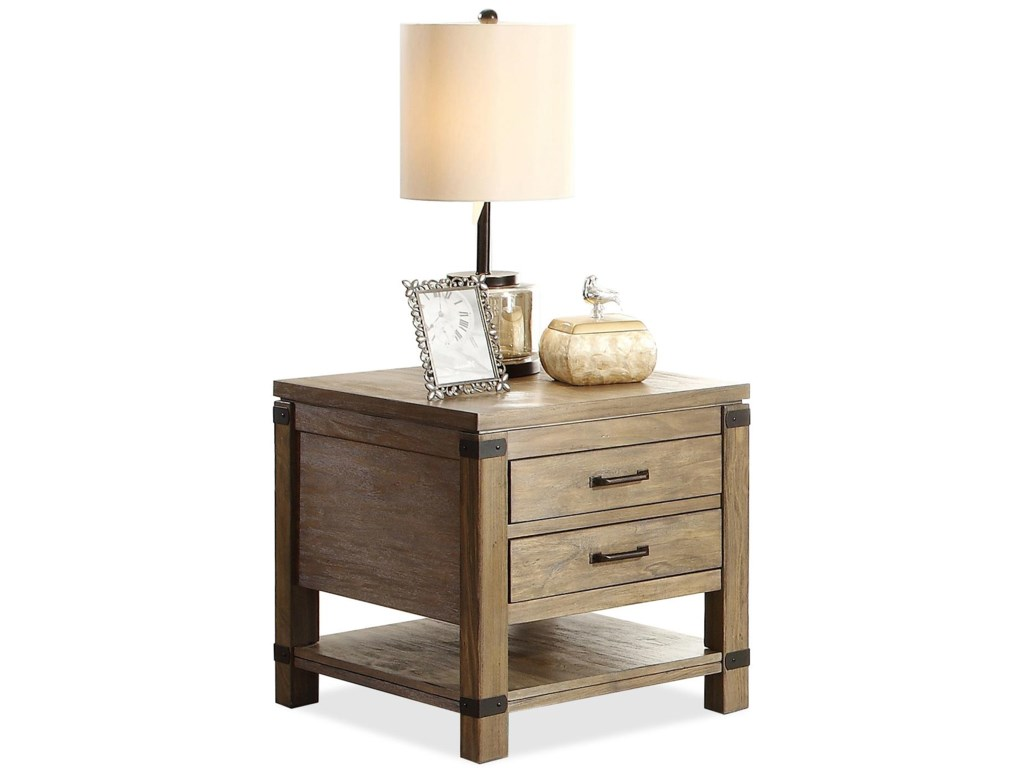 Riverside Furniture Bay CliffEnd Table