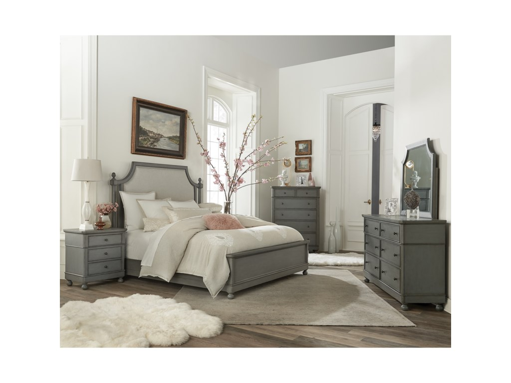 Riverside Furniture Bella GrigioCalifornia King Bedroom Group