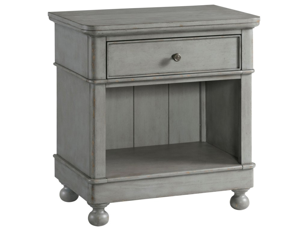 Riverside Furniture Bella Grigio1-Drawer Nightstand