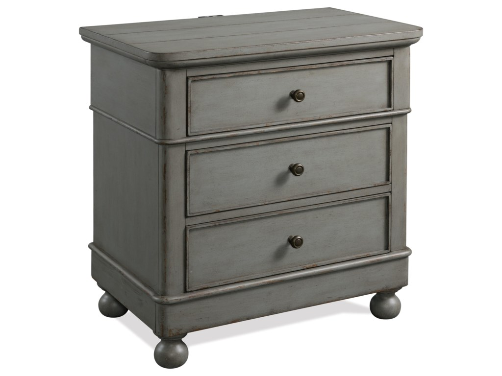 Riverside Furniture Bella Grigio3-Drawer Nightstand