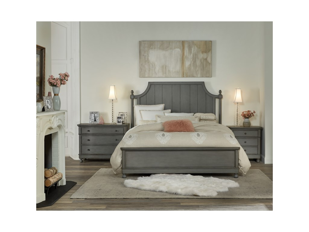 Riverside Furniture Bella GrigioCalifornia King Panel Bed