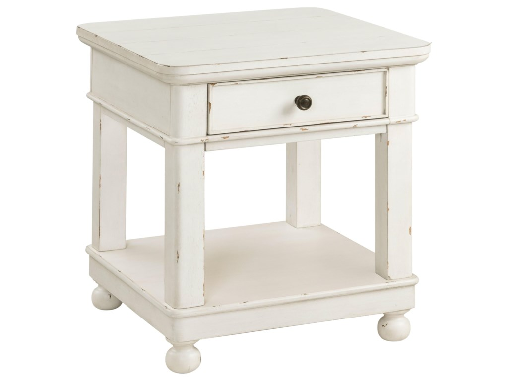 Riverside Furniture Bella GrigioSquare End Table