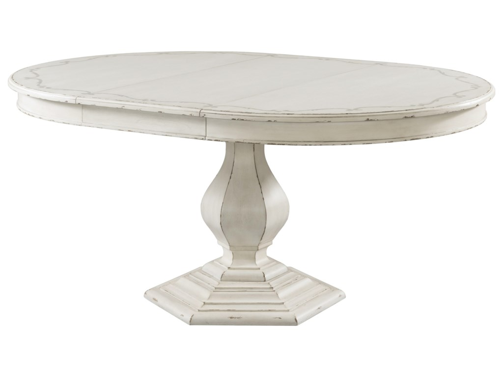 Riverside Furniture Bella GrigioStencil Top Round Dining Table