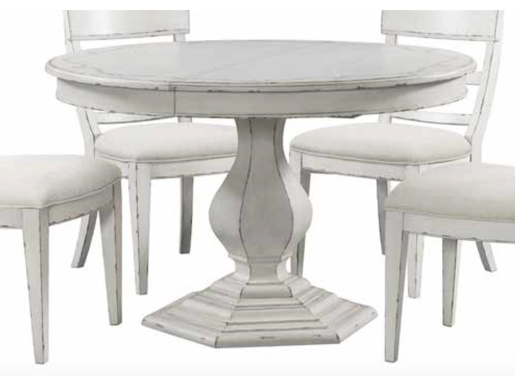 Riverside Furniture Bella GrigioRound Dining Table with Stencil Top