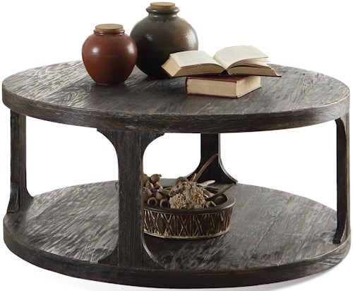 Riverside Furniture Bellagio Round Cocktail Table w/ Shelf