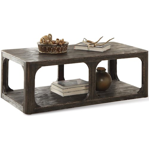 Riverside Furniture Bellagio Rectangular Cocktail Table w/ Shelf
