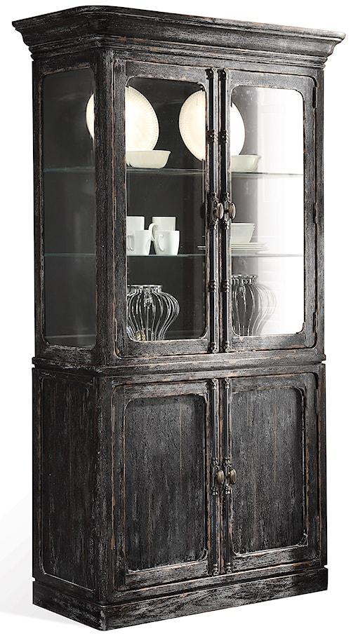 Riverside Furniture Bellagio Weathered China Cabinet w/ Glass Shelves