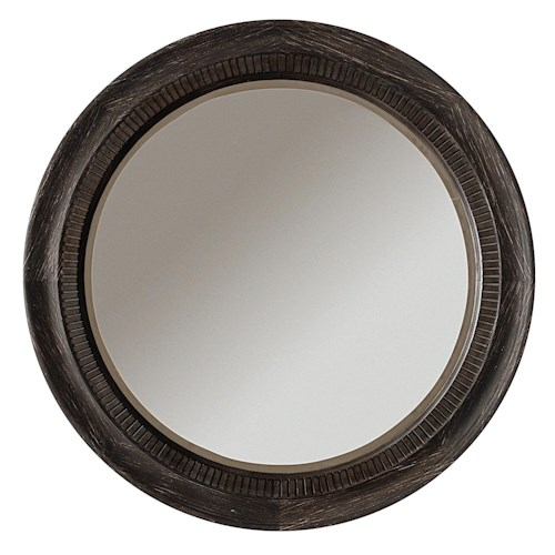 Riverside Furniture Bellagio Round Accent Mirror w/ Beveled Frame