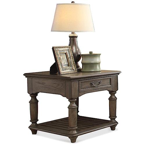 Riverside Furniture Belmeade Large Rectangular End Table