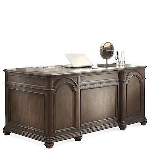 Riverside Furniture Belmeade Traditional Executive Desk