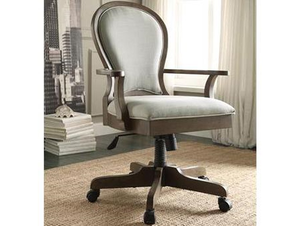 Riverside Furniture Belmeade Scroll Back Upholstered Desk Chair