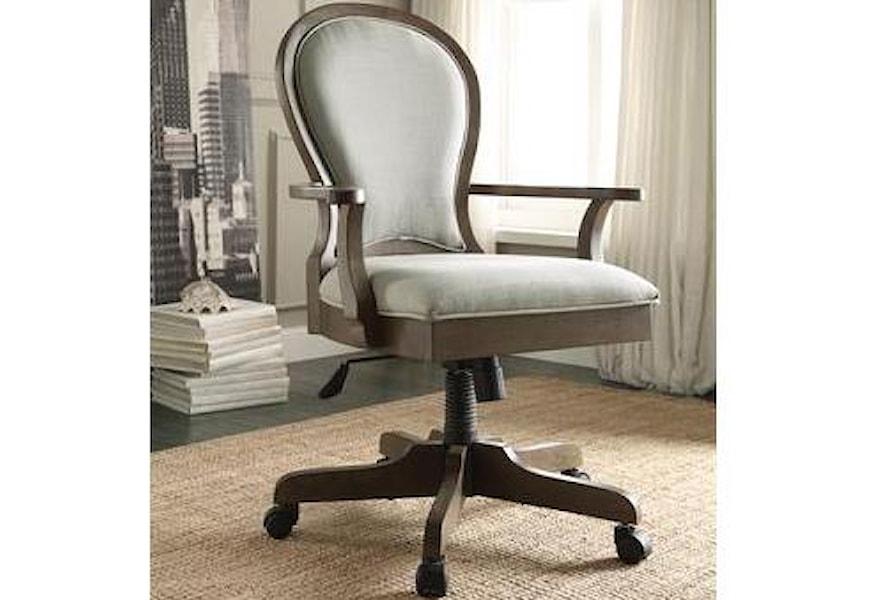 Riverside Furniture Belmeade Riv 15839 Scroll Back Upholstered Desk Chair Hudson S Furniture Executive Desk Chairs