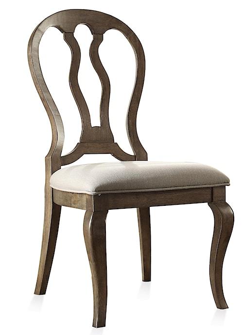 Riverside Furniture Belmeade Queen Ann Upholstered Side Chair