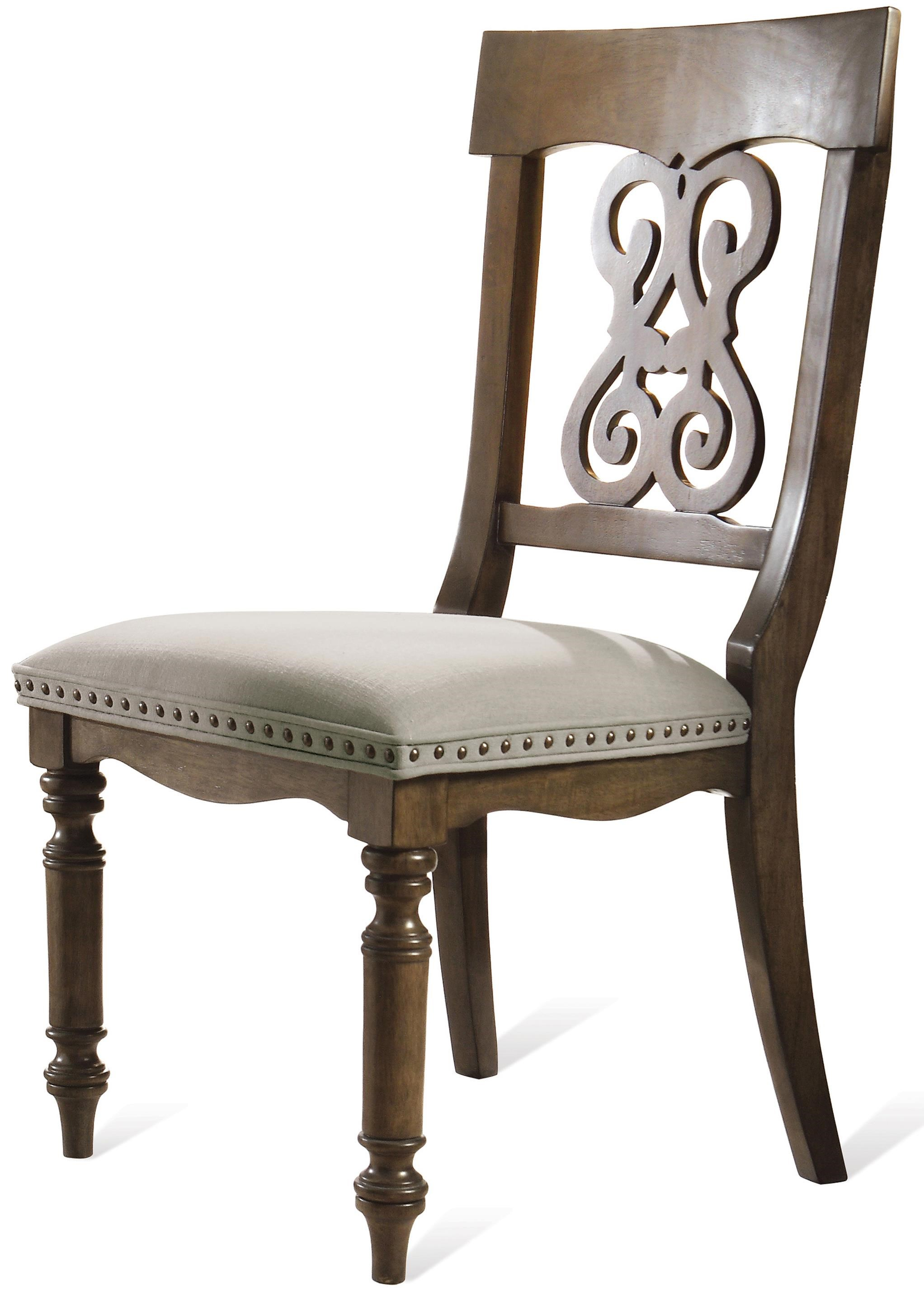 Riverside Furniture BelmeadeScroll Upholstered Side Chair ...