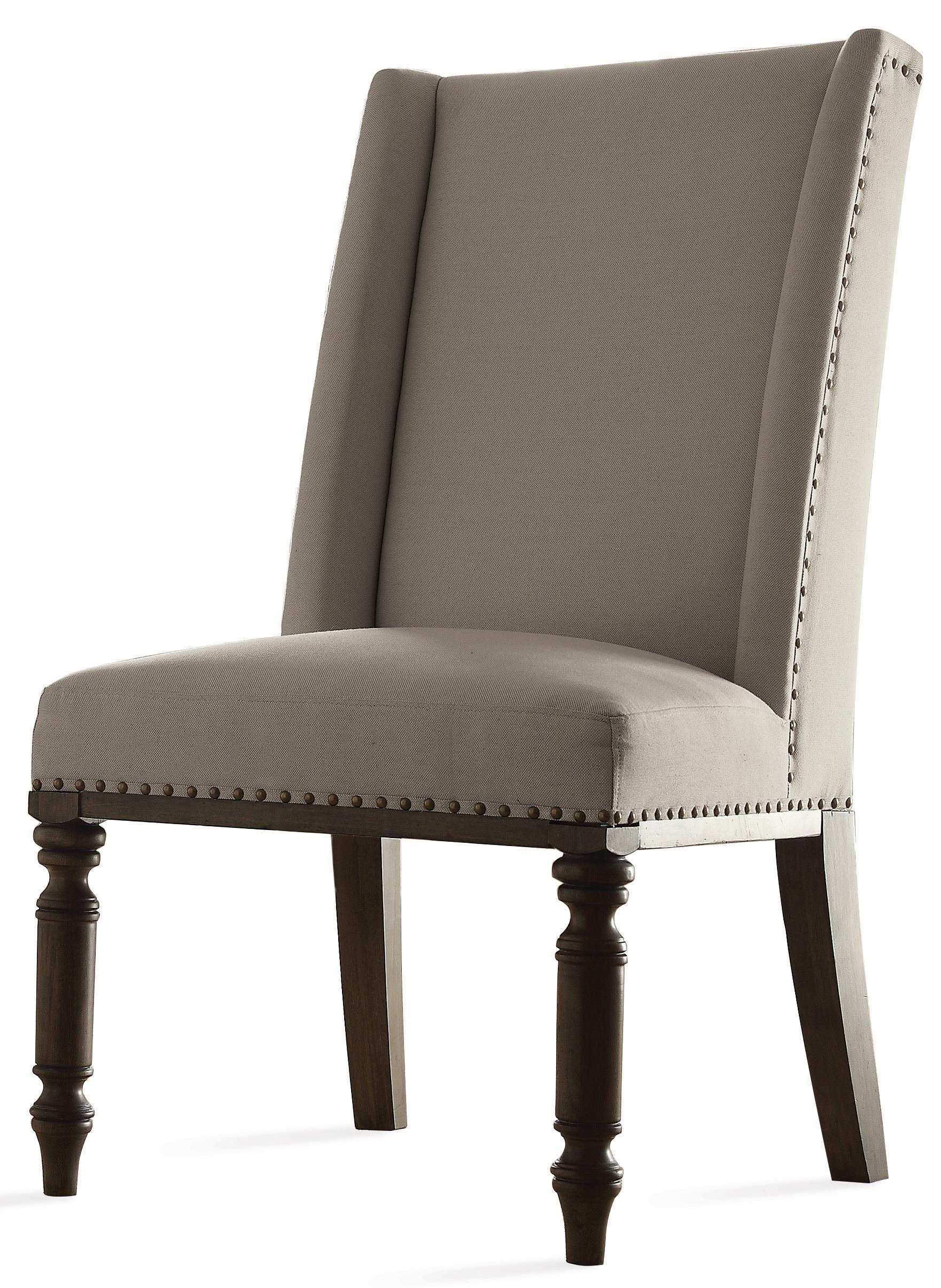 High Quality Riverside Furniture Belmeade Hostess Chair W/ Nailhead Trim   Hudsonu0027s  Furniture   Dining Side Chairs