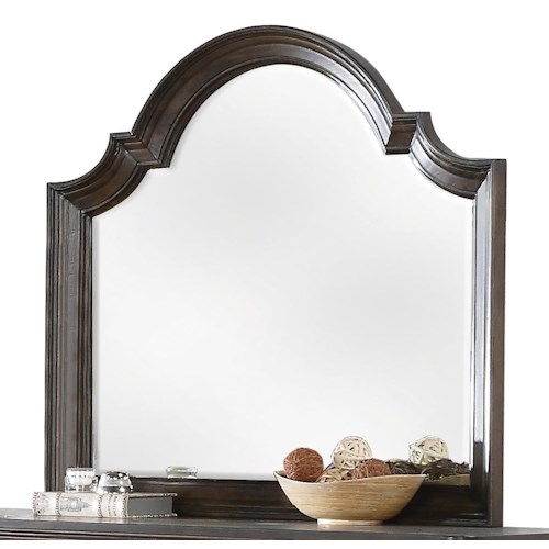 Riverside Furniture Belmeade Beveled Arch Mirror