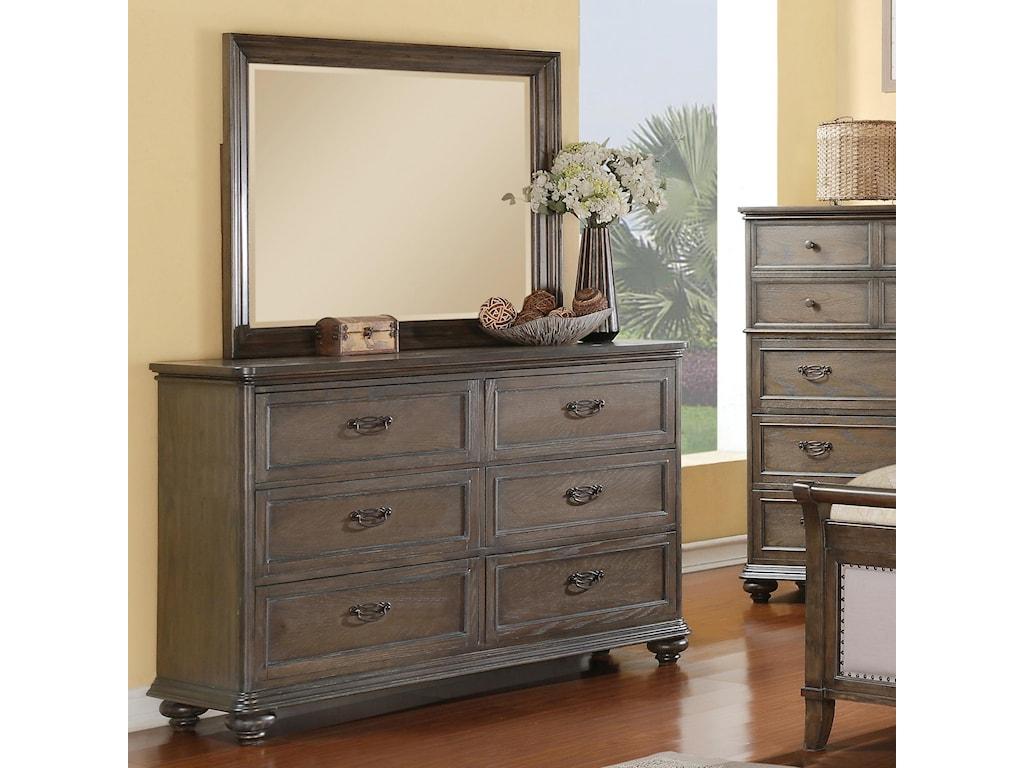 Riverside Furniture BelmeadeLandscape Mirror