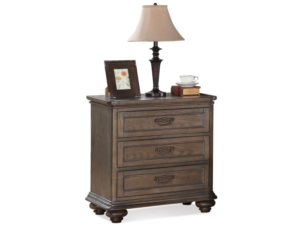 Riverside Furniture BelmeadeThree Drawer Nightstand