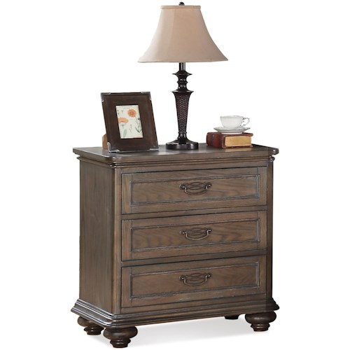 Riverside Furniture Belmeade Three Drawer Nightstand