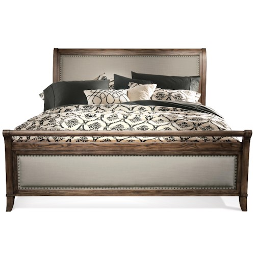 Riverside Furniture Belmeade Queen Sleigh Upholstered Bed