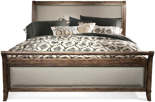 Riverside Furniture Belmeade Cal King Sleigh Upholstered Bed