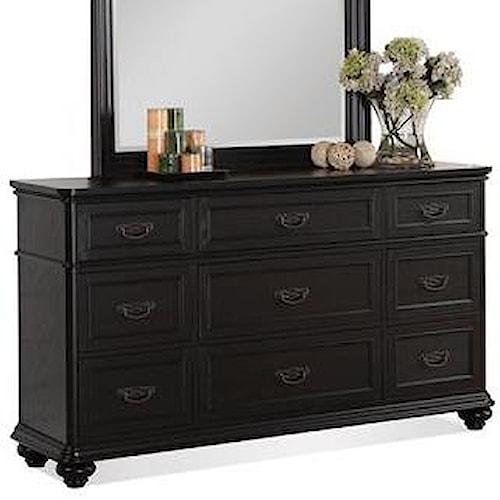 Riverside Furniture Belmeade 9-Drawer Dresser w/ Rounded Molding