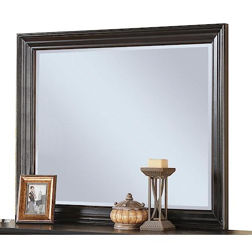 Riverside Furniture Belmeade Framed Beveled Landscape Mirror