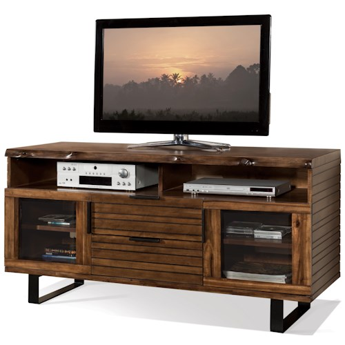 Riverside Furniture Boulder TV Console with Interior Wiring Access