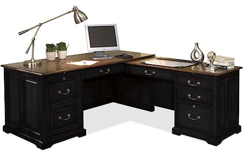 Riverside Furniture Bridgeport  L-Shaped Computer Workstation Desk