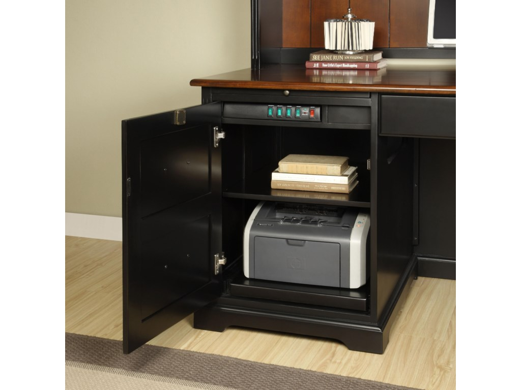 Left Door Shown with Printer on Pull-Out Shelf
