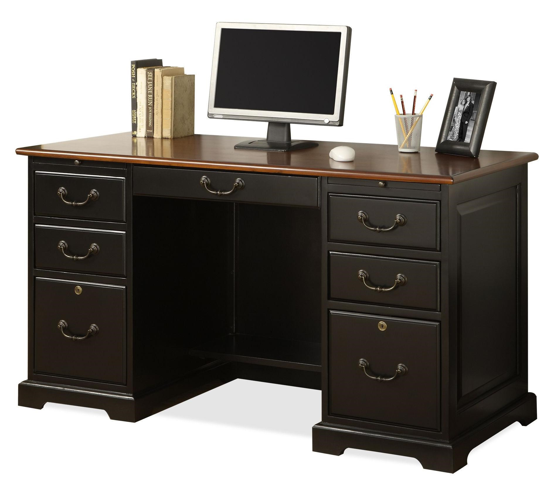 Riverside Furniture Bridgeport 54 Inch Double Pedestal