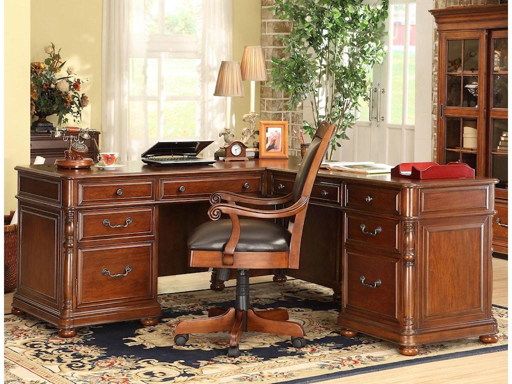 Riverside Furniture Bristol CourtL-Desk And Return
