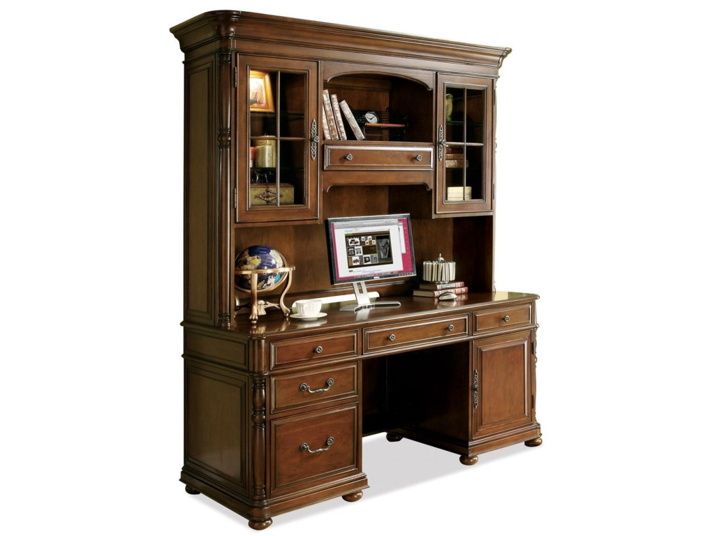 Riverside Furniture Bristol CourtComputer Credenza and Hutch
