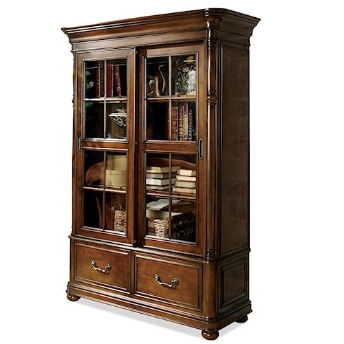 Riverside Furniture Bristol Court Double Sliding Glass Door Bookcase