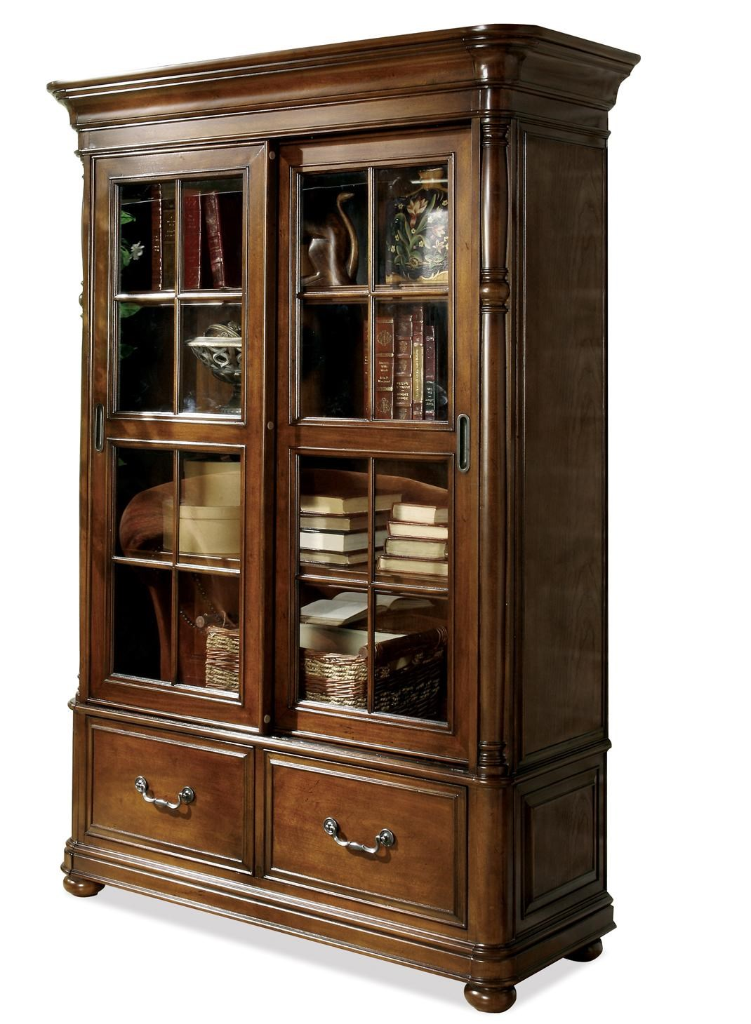 Riverside Furniture Bristol CourtSliding Door Bookcase ...