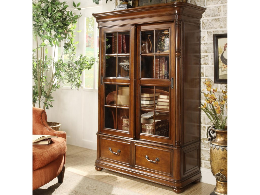 Riverside Furniture Bristol CourtSliding Door Bookcase