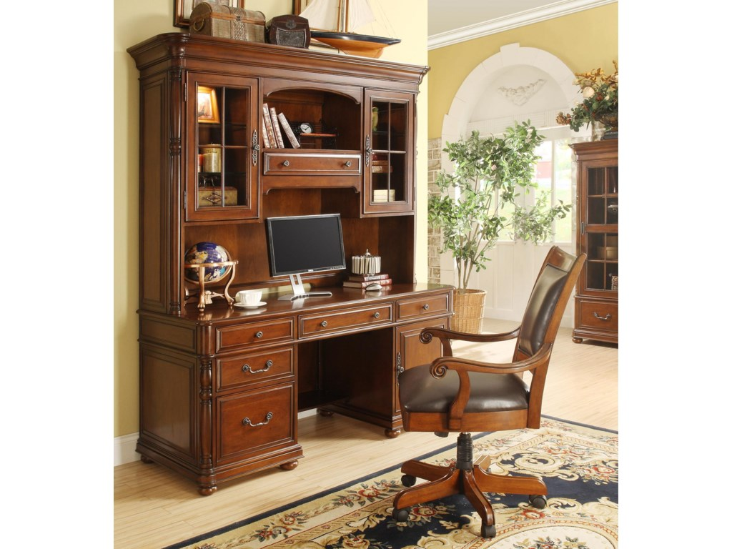 Shown with Computer Credenza and Hutch
